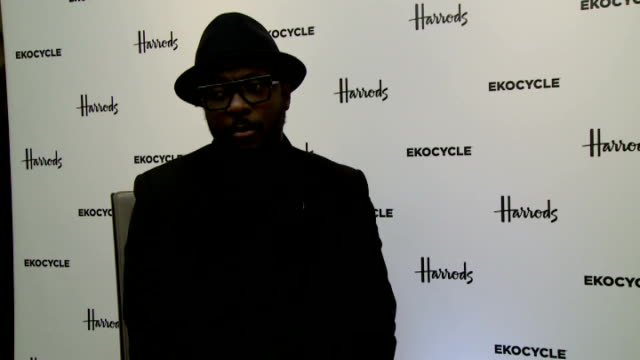 london harrods language / swearing** william interview sot - will.i.am stock videos & royalty-free footage
