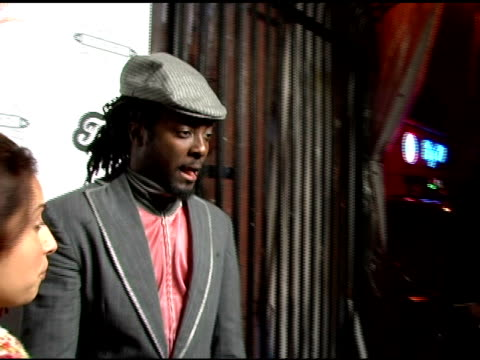 william of the black eyed peas at the birthday celebration for fergie at citizen smith in hollywood california on march 28 2006 - the black eyed peas band stock videos and b-roll footage