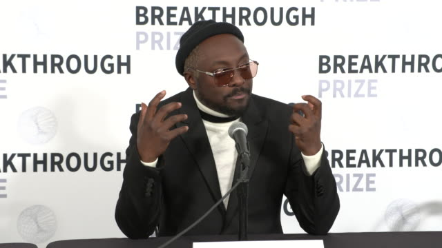 interview william on the breakthrough prize why it's important how science and technology play such an important role in music that many people don't... - will.i.am stock videos & royalty-free footage