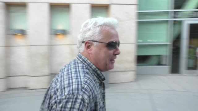 william petersen running away from fans outside arclight theatre in hollywood in celebrity sightings in los angeles - william petersen stock videos & royalty-free footage
