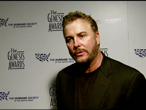 william peterson of 'csi' on his award the event the episode that won his dog animal issues and politics at the 2008 genesis awards at the beverly... - william petersen stock videos & royalty-free footage