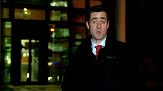 william roache trial continues preston crown court reporter to camera - ウィリアム・ローチ点の映像素材/bロール