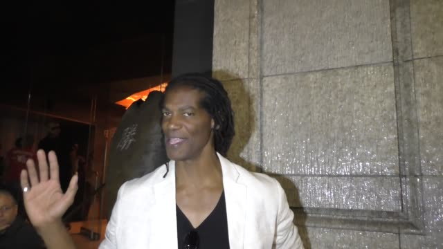 INTERVIEW William Romeo aka Mayhem from 'American Gladiators' on 'American Ninja Warrior' at Katsuya Hollywood at Celebrity Sightings in Los Angeles...