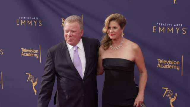 william shatner and elizabeth shatner at the 2018 creative arts emmy awards - day 1 at microsoft theater on september 08, 2018 in los angeles,... - william shatner stock videos & royalty-free footage