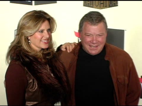 william shatner and wife elizabeth anderson martin at the vh-1 big in 04 at the shrine auditorium in los angeles, california on december 1, 2004. - william shatner stock videos & royalty-free footage