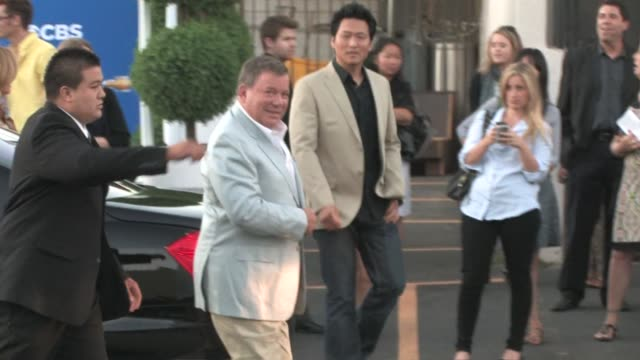 william shatner arrives at at the cbs fall season premiere at colony in hollywood at the celebrity sightings in los angeles at los angeles ca. - william shatner stock videos & royalty-free footage