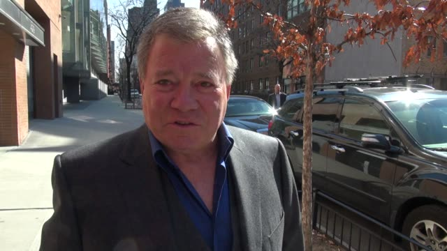william shatner arrives at the wendy williams show 02/20/12 in celebrity sightings in new york - william shatner stock videos & royalty-free footage