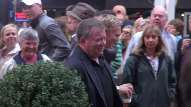 william shatner at good morning america in new york 10/04/11 - william shatner stock videos & royalty-free footage