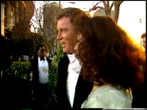 william shatner at the 1987 academy awards at dorothy chandler pavilion in los angeles, california on march 30, 1987. - william shatner stock videos & royalty-free footage