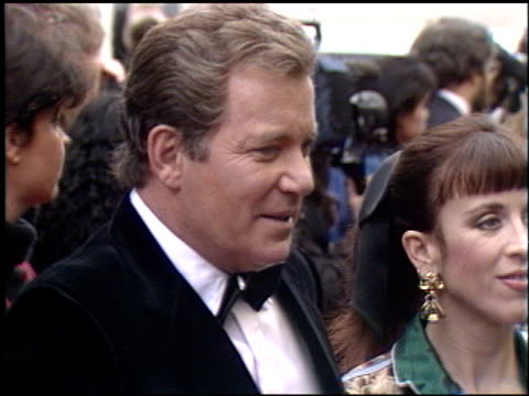 william shatner at the 1990 people's choice awards on march 11, 1990. - william shatner stock videos & royalty-free footage