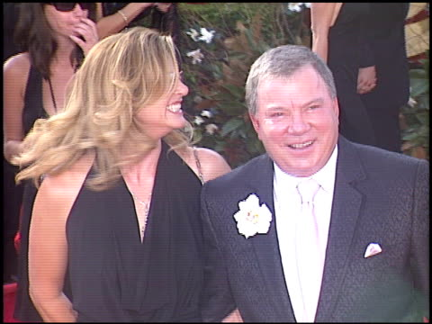 william shatner at the 2005 emmy awards entrances at the shrine auditorium in los angeles california on september 18 2005 - 2005 stock videos and b-roll footage