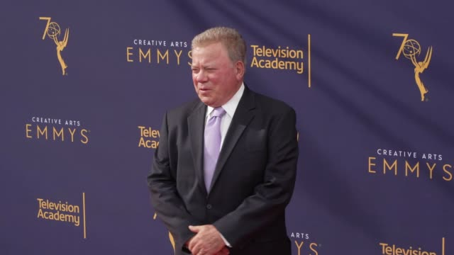 william shatner at the 2018 creative arts emmy awards - day 1 at microsoft theater on september 08, 2018 in los angeles, california. - william shatner stock videos & royalty-free footage