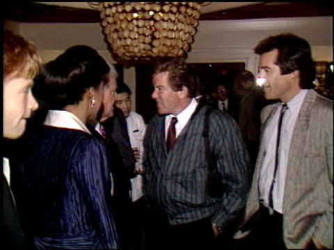 william shatner at the miss america / merv griffin reception at trader vic's in beverly hills, california on march 5, 1990. - william shatner stock videos & royalty-free footage