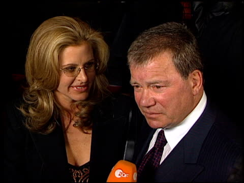 william shatner at the showtime at grauman's chinese theatre in hollywood, california on march 11, 2002. - william shatner stock videos & royalty-free footage