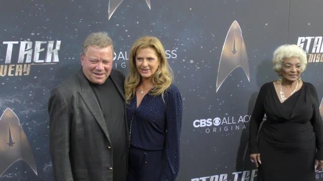 william shatner & elizabeth shatner at the premiere of cbs's 'star trek: discovery' on september 19, 2017 in los angeles, california. - william shatner stock videos & royalty-free footage