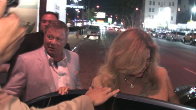 william shatner leaving the cbs fall season premiere at colony in hollywood at the celebrity sightings in los angeles at los angeles ca. - william shatner stock videos & royalty-free footage