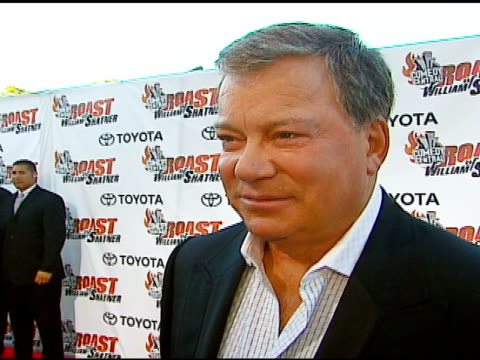 william shatner on being roasted, on what he thought when they told him, on whether he had picks of who he wanted or didn't want to roast him, on... - william shatner stock videos & royalty-free footage
