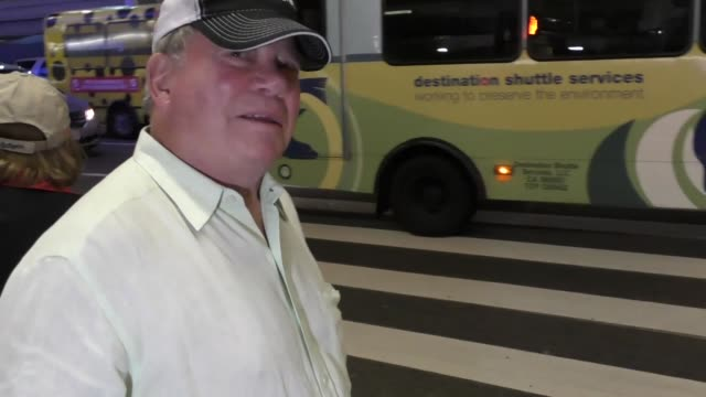 william shatner on his charity work at los angeles international airport at celebrity sightings in los angeles on november 26, 2016 in los angeles,... - william shatner stock videos & royalty-free footage