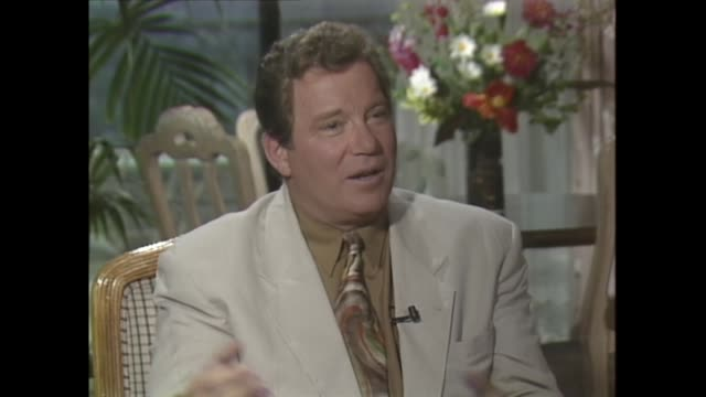 william shatner on portraying the iconic 'star trek' character captain kirk - william shatner stock videos & royalty-free footage