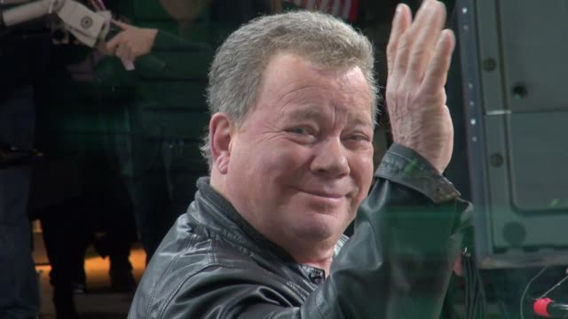 william shatner on the set of good morning america 02/17/12 in celebrity sightings in new york - william shatner stock videos & royalty-free footage