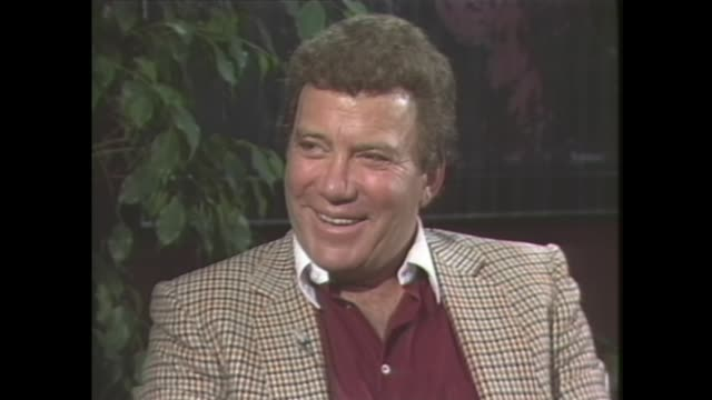 william shatner on whether he prefers acting or directing more - satisfaction stock videos & royalty-free footage
