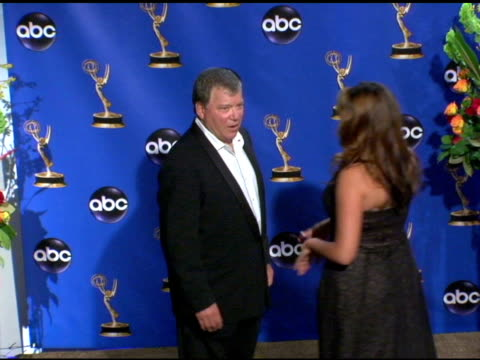 William Shatner presenter of Outstanding Writing for a Drama Series at the 2004 Primetime Emmy Awards press room at the Shrine Auditorium in Los...