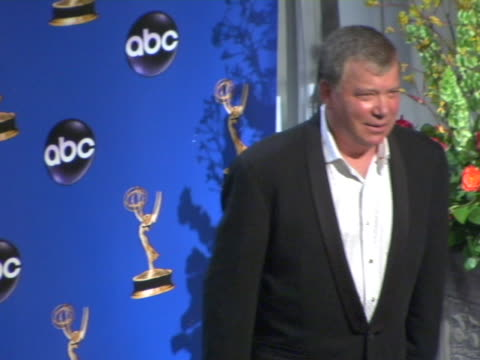 william shatner, presenter of outstanding writing for a drama series at the 2004 primetime emmy awards press room at in los angeles, california. - william shatner stock videos & royalty-free footage
