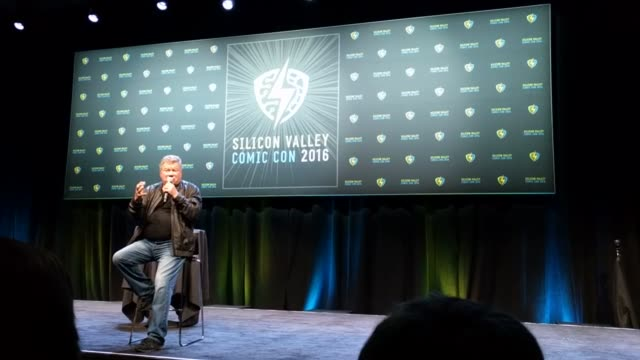 william shatner reveals his regret that he didn't repair his estranged friendship with star trek co-star leonard nimoy; onstage at silicon valley... - william shatner stock videos & royalty-free footage