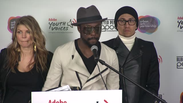 william talks about dreaming big getting an f in music class how the black eyed peas started using tools to express themselves at the black eyed peas... - black eyed peas stock videos & royalty-free footage