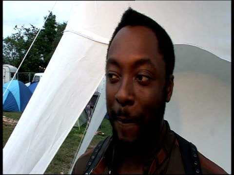 will.i.am talks about his experiences of working with michael jackson following his sudden death glastonbury; 26 june 2009 - festival goer stock videos & royalty-free footage