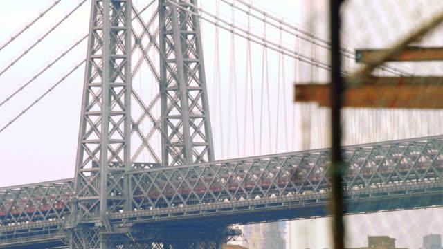williamsburg bridge - industrial - riff stock videos & royalty-free footage