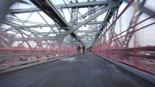williamsburg bridge time lapse - williamsburg bridge stock videos and b-roll footage