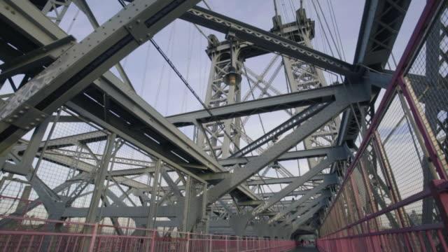 williamsburg bridge - williamsburg bridge stock videos and b-roll footage