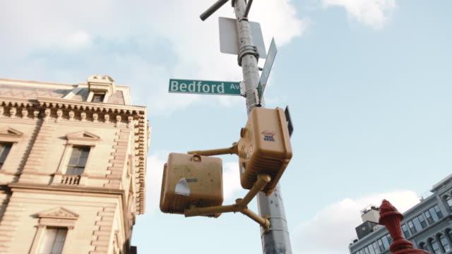 Williamsburg, Brooklyn street sign b roll