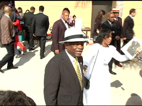 willie brown at the funeral of johnnie l cochran, jr arrivals at west angeles cathedral in los angeles, california on april 6, 2005. - johnnie cochran stock videos & royalty-free footage