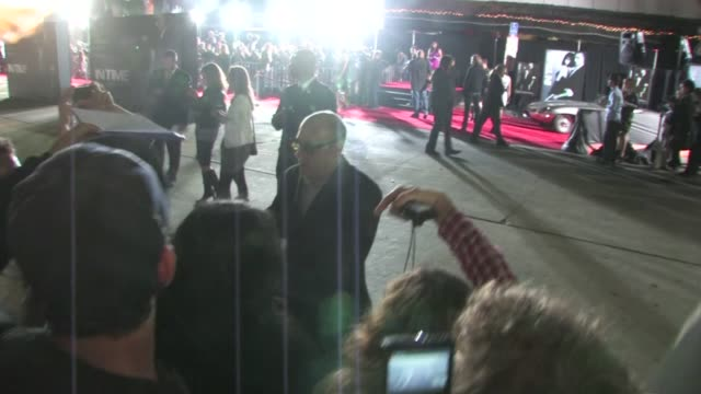 willie garson greets fans at in time premiere in westwood - ウィリー ガーソン点の映像素材/bロール