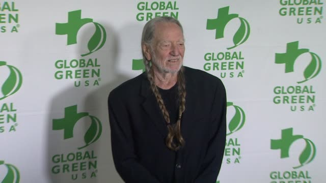 willie nelson at global green usa's 10th annual pre-oscar party on 2/20/13 in los angeles, ca . - willie nelson stock-videos und b-roll-filmmaterial