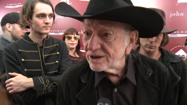willie nelson & sons on on being a part of the event, what we can expect from their performance today, why it's important to shed a light on stuart... - willie nelson stock-videos und b-roll-filmmaterial