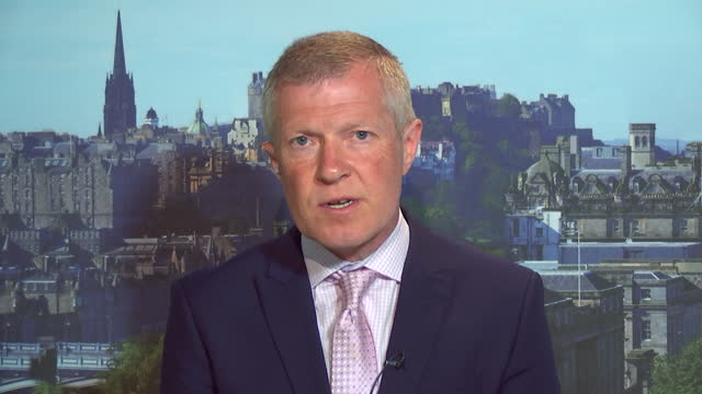 willie rennie saying the scottish elections are being used to decide whether the focus should be on independence or covid recovery - focus concept stock videos & royalty-free footage