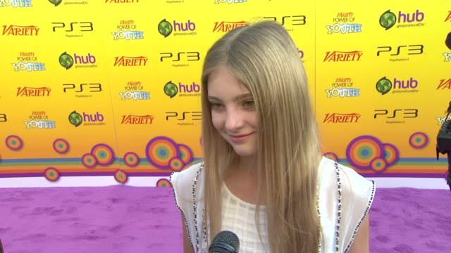 Willow Shields on being a part of the event what charity she supports at the Variety's 5th Annual Power Of Youth Event at Los Angeles CA