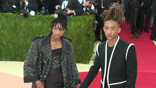 willow smith jaden smith at manus x machina fashion in an age of technology costume institute benefit gala arrivals at metropolitan museum of art at... - jaden smith stock videos & royalty-free footage