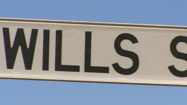 cu pan wills st sign / tibooburra, new south wales, australia - road sign stock videos & royalty-free footage