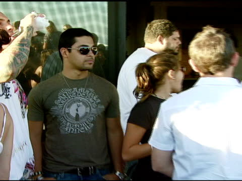 wilmer valderama at the bra boys bbq presented by anheuserbusch at polaroid beach house in malibu california on august 19 2007 - anheuser busch inbev stock videos and b-roll footage