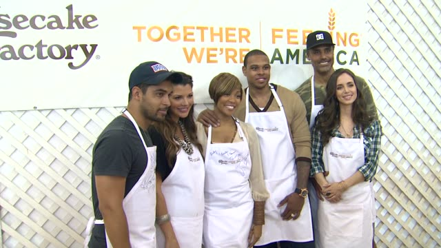Wilmer Valderrama Ali Landry Monica Brown Shannon Brown Rick Fox Eliza Dushku at the The Cheesecake Factory Helps KickOff Feeding America's Hunger...
