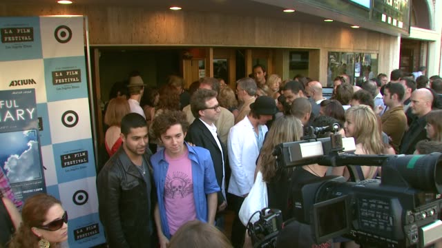 wilmer valderrama and aaron himelstein at the 'the beautiful ordinary' premiere at landmark's regent theatre in los angeles california on june 24 2007 - wilmer valderrama stock videos and b-roll footage