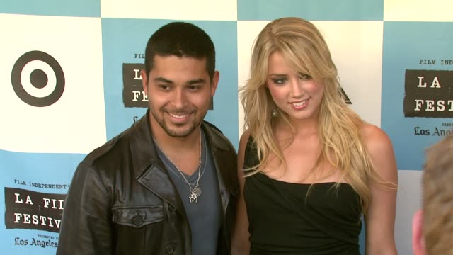 wilmer valderrama and amber heard at the 'the beautiful ordinary' premiere at landmark's regent theatre in los angeles california on june 24 2007 - wilmer valderrama stock videos and b-roll footage