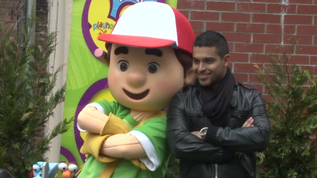 wilmer valderrama and handy manny help nyc kids plant community garden at the wilmer valderrama helps nyc kids plant community garden at new york ny - wilmer valderrama stock videos and b-roll footage