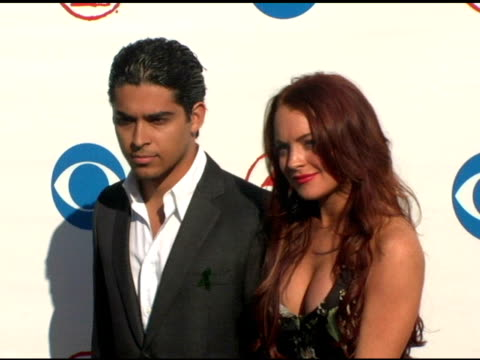 Wilmer Valderrama and Lindsay Lohan at the 2004 Latin Grammy Awards Arrivals at the Shrine Auditorium in Los Angeles California on September 1 2004
