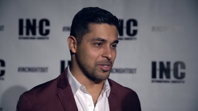 interview wilmer valderrama at inc night out at art basel miami beach hosted by wilmer valderrama on december 03 2016 in miami florida - wilmer valderrama stock videos & royalty-free footage