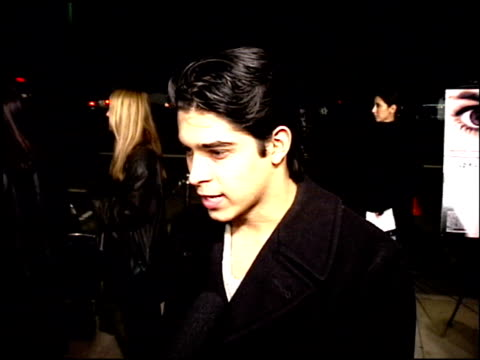 wilmer valderrama at the 'girl interrupted' premiere at the cinerama dome at arclight cinemas in hollywood california on december 8 1999 - wilmer valderrama stock videos & royalty-free footage